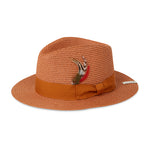 Dark Tan Knitted Fedora Hat