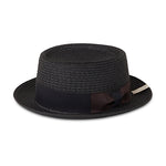 Black Knitted Porkpie Hat