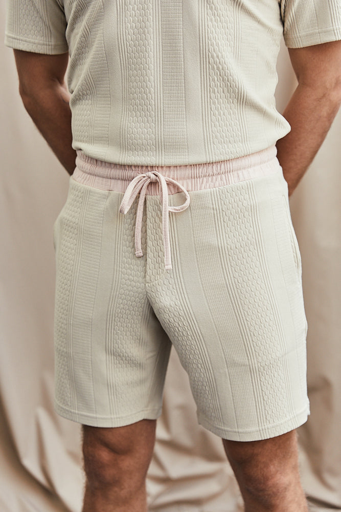 Tan Broad Street Contrast Shorts