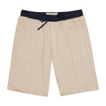 Tan Horizon Contrast Shorts