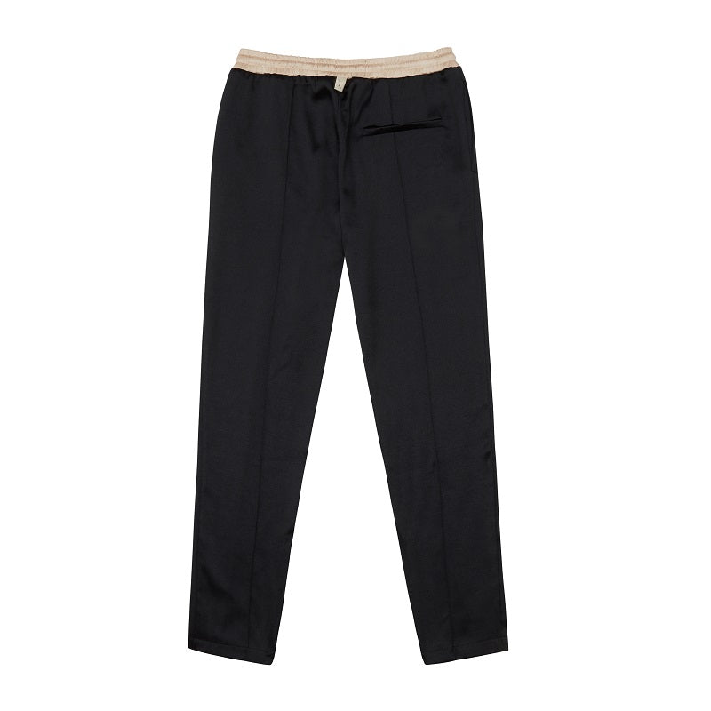Black Horizon Contrast Slim Fit Trousers - P r é v u . S t u d i o .