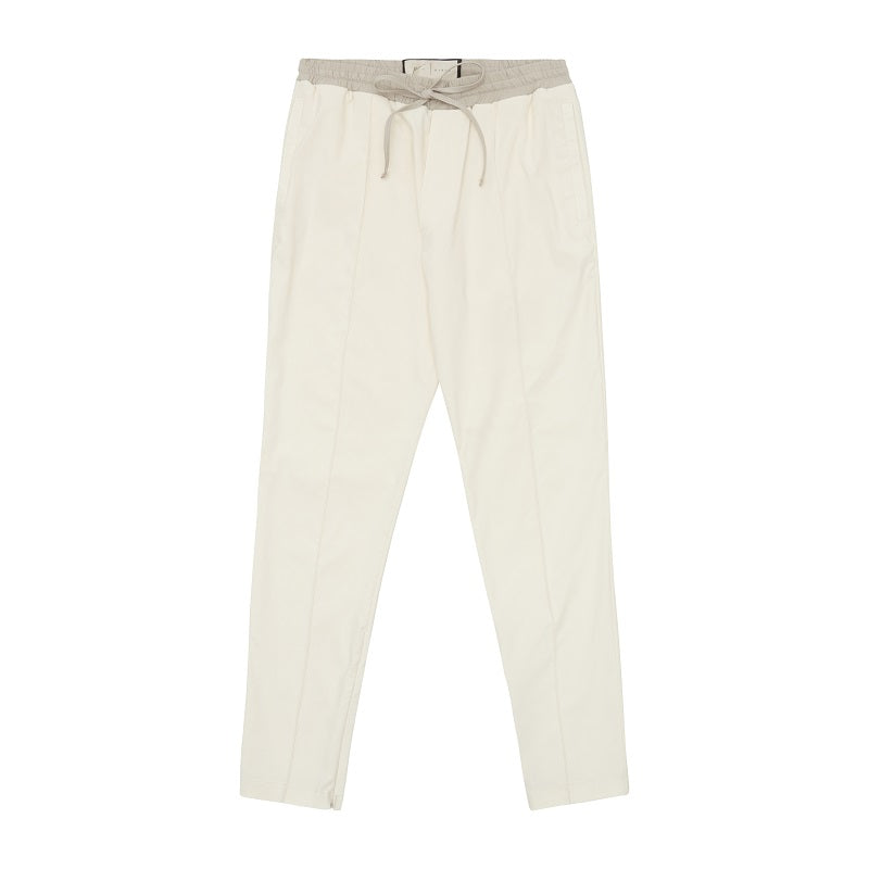 Cream Salvatore Slim Fit Trousers - P r é v u . S t u d i o .
