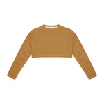 Women's Tan Insigne Cropped Sweatshirt