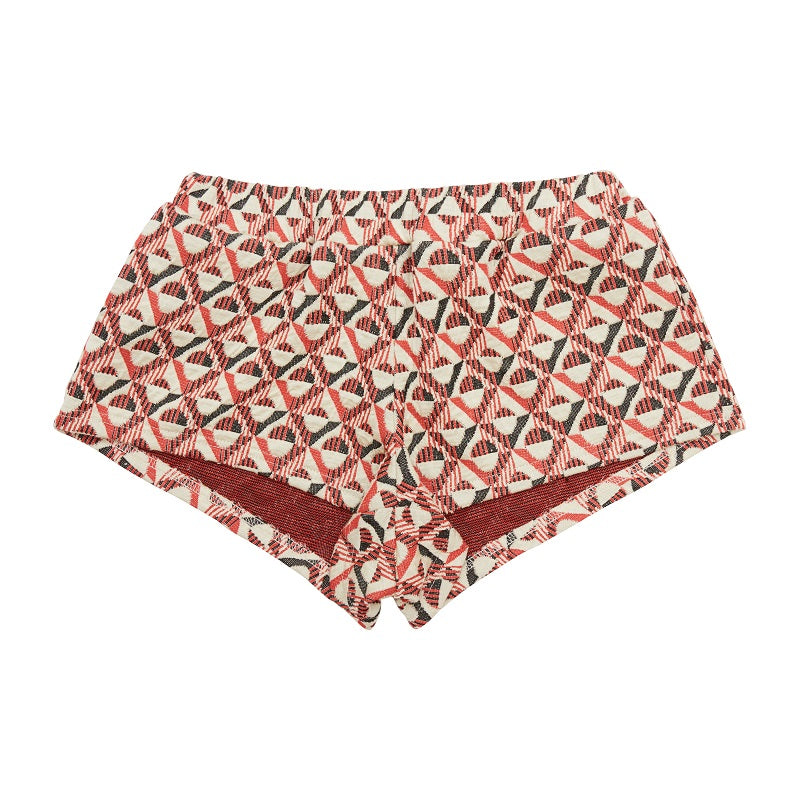 Load image into Gallery viewer, Women's Red Napoli Shorts - P r é v u . S t u d i o .