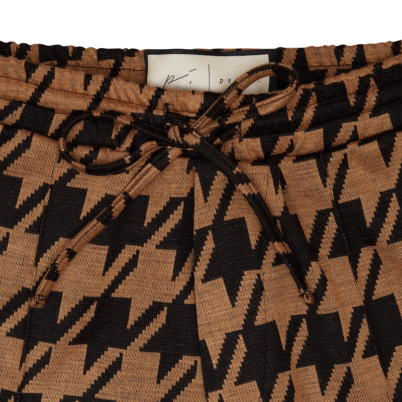Load image into Gallery viewer, Black Pelle Dogtooth Shorts - P r é v u . S t u d i o .