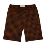 Brown Giovinco Puppytooth Shorts - P r é v u . S t u d i o .