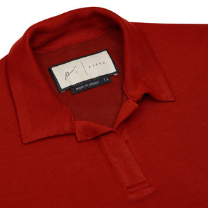 Load image into Gallery viewer, Women's Red Napoli Polo Shirt - P r é v u . S t u d i o .