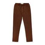 Brown Giovinco Puppytooth Slim Fit Trousers - P r é v u . S t u d i o .