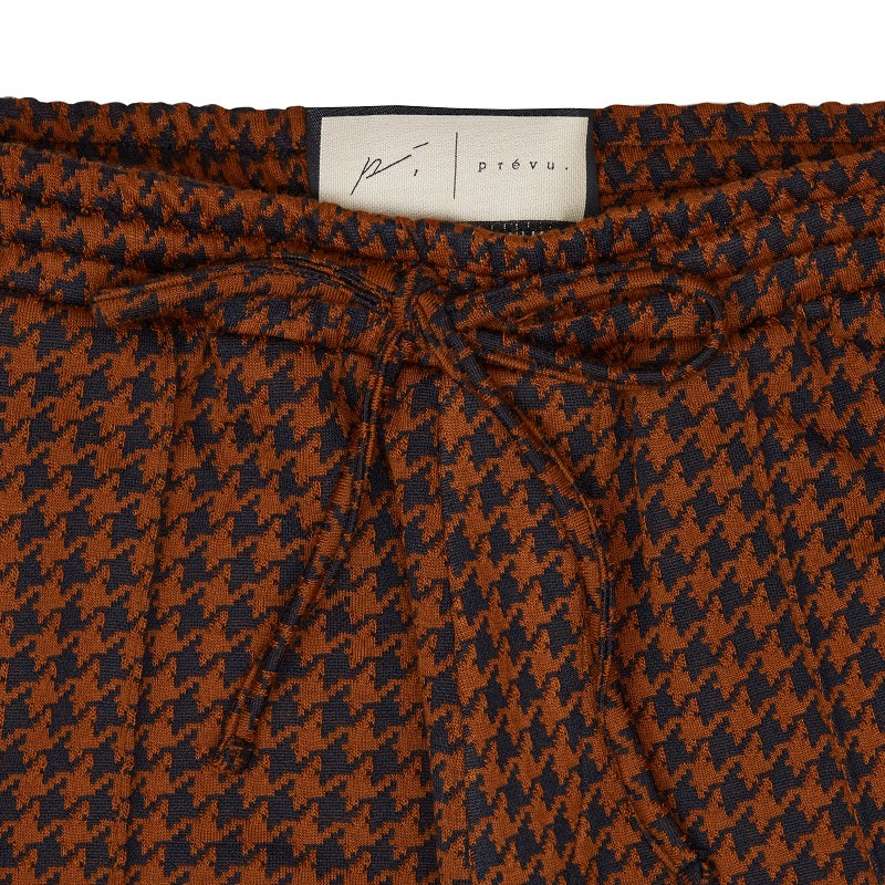 Load image into Gallery viewer, Brown Giovinco Puppytooth Slim Fit Trousers - P r é v u . S t u d i o .