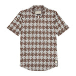 Cream Pelle Dogtooth Regular Fit Polo