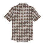 Cream Pelle Dogtooth Regular Fit Polo - P r é v u . S t u d i o .