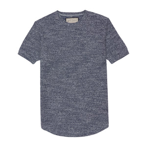Blue Aegean Space Dye Slim Fit T-shirt - P r é v u . S t u d i o .