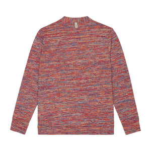 Load image into Gallery viewer, Red Karaman Space Dye Cardigan - P r é v u . S t u d i o .