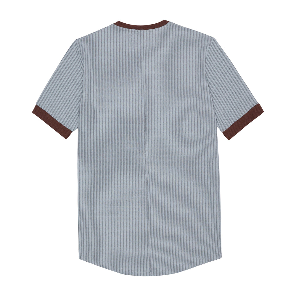 Silver Kas Ribbed Slim Fit T-shirt