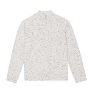 White Milas Flecked Towelling Track Jacket