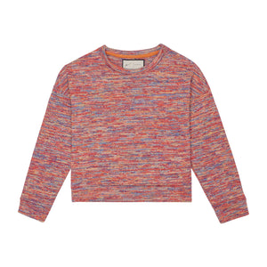 Load image into Gallery viewer, Women's Red Karaman Space Dye Long Sleeve Top - P r é v u . S t u d i o .