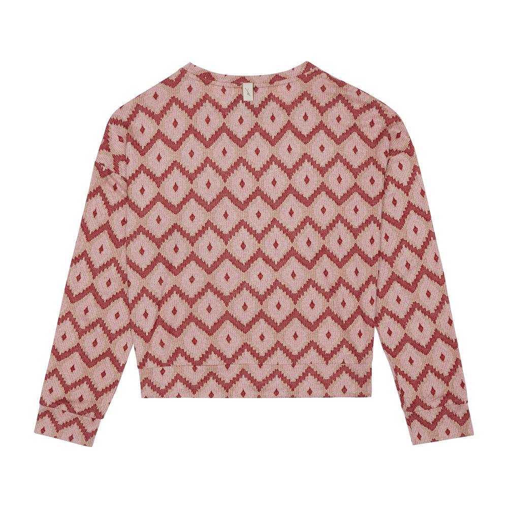 Load image into Gallery viewer, Women's Pink Artemis Jacquard Top - P r é v u . S t u d i o .