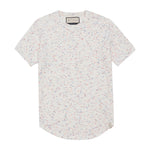 White Milas Flecked Towelling Slim Fit T-shirt - P r é v u . S t u d i o .