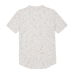 White Milas Flecked Towelling Slim Fit T-shirt