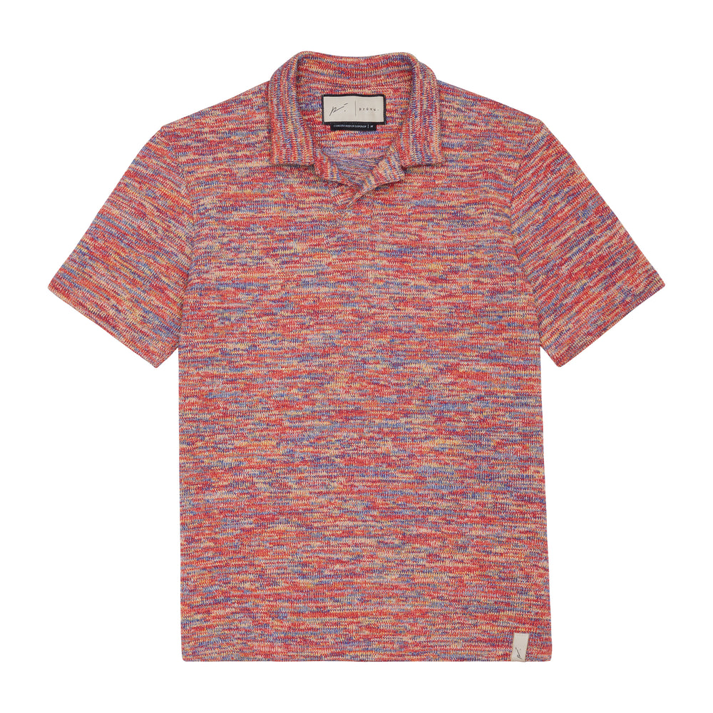 Red Karaman Space Dye Slim Fit Polo