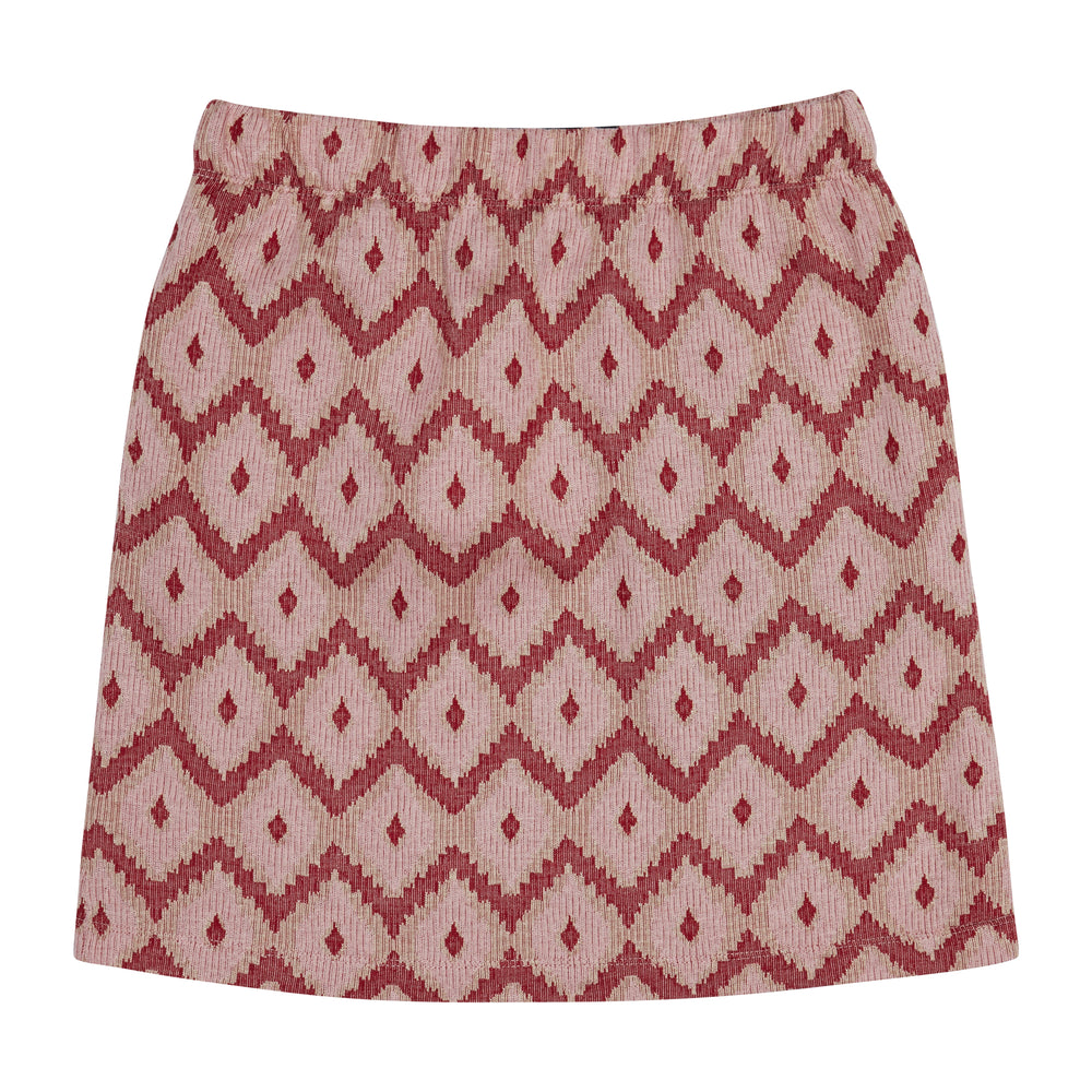 Load image into Gallery viewer, Women's Pink Artemis Jacquard Mini Skirt - P r é v u . S t u d i o .