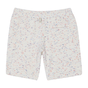 White Milas Flecked Towelling Shorts