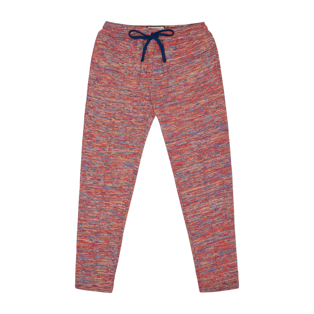 Load image into Gallery viewer, Red Karaman Space Dye Slim Fit Trousers - P r é v u . S t u d i o .