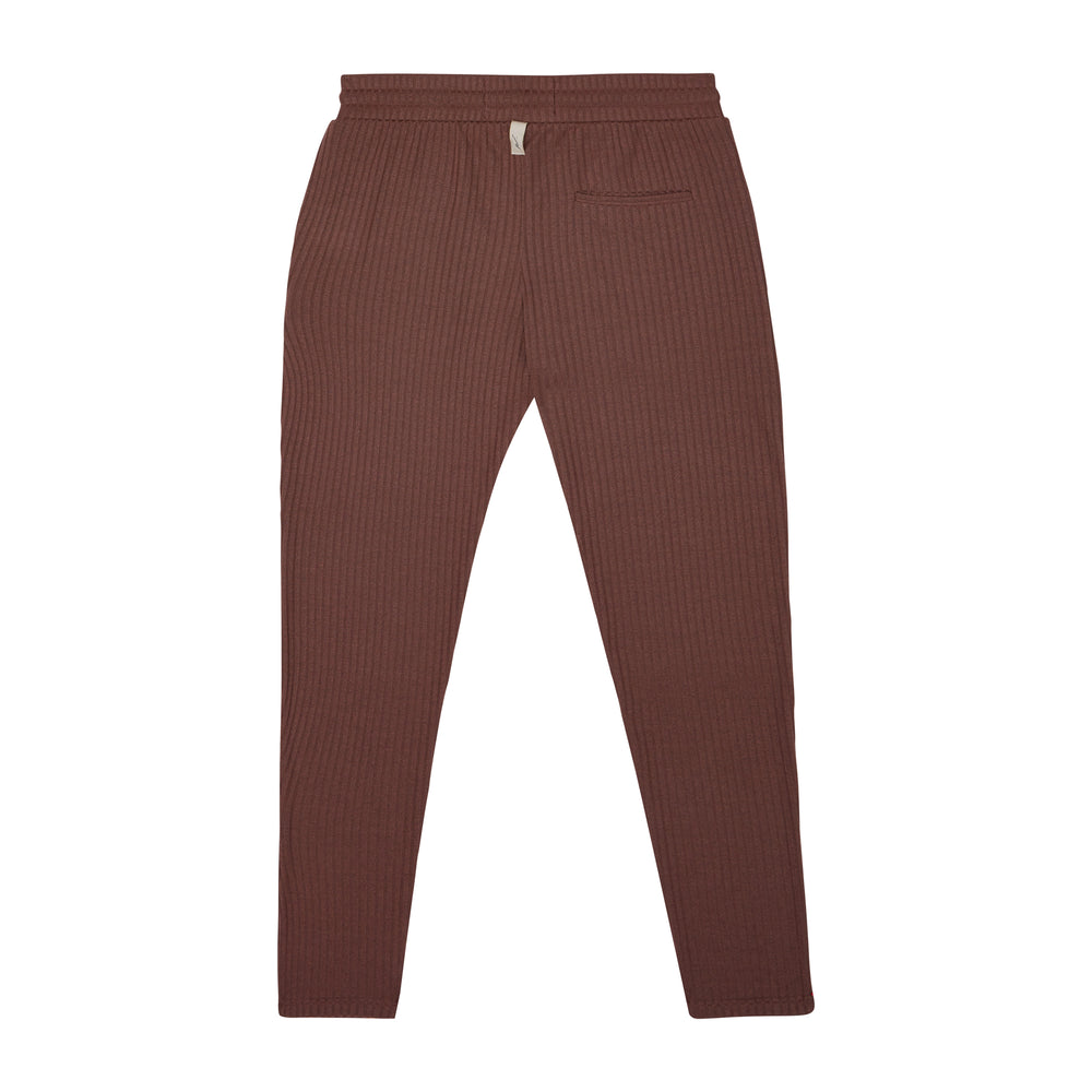 Brown Kas Ribbed Slim Fit Trousers - P r é v u . S t u d i o .