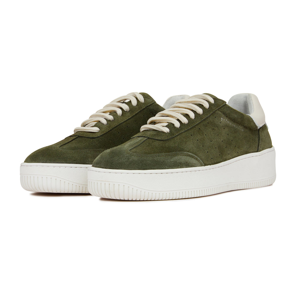 Khaki Annecy Suede Trainers