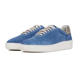 Load image into Gallery viewer, Navy Annecy Suede Trainers - P r é v u . S t u d i o .