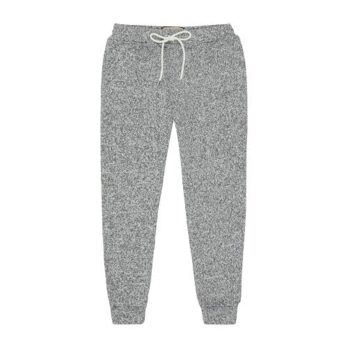 Grey and White Stirling Flecked Sim Fit Trousers - P r é v u . S t u d i o .