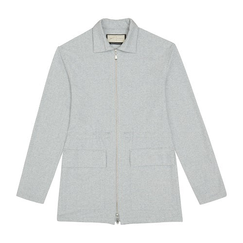 Load image into Gallery viewer, Grey Albany Street Herringbone Parka Jacket - P r é v u . S t u d i o .