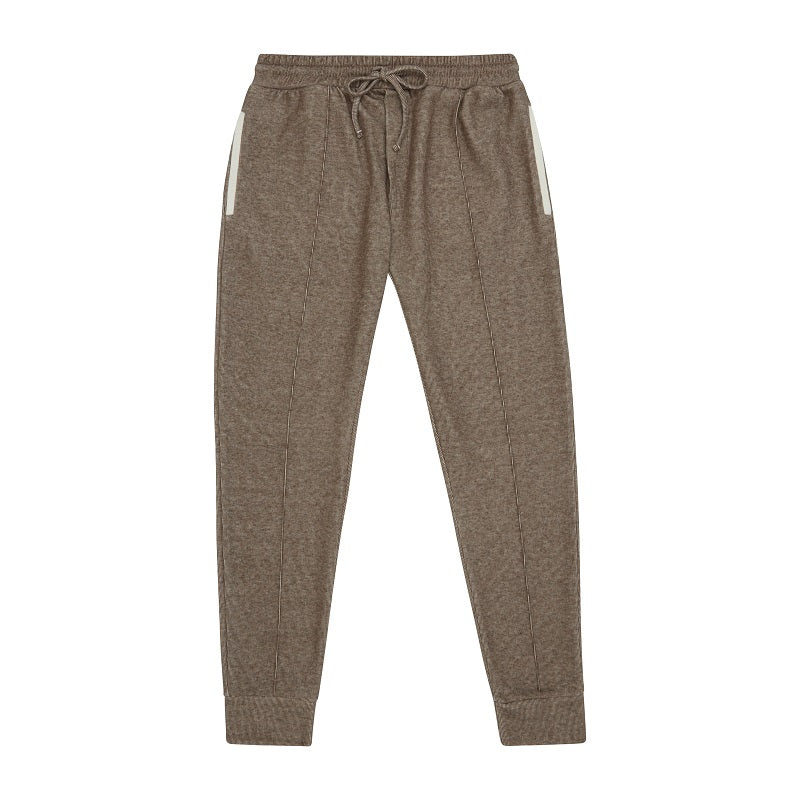 Load image into Gallery viewer, Light Brown Macchiato Slim Fit Joggers - P r é v u . S t u d i o .