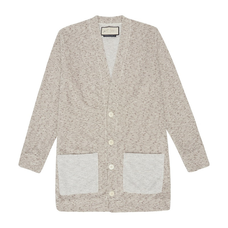 Beige Lavendon Longer Length Cardigan - P r é v u . S t u d i o .