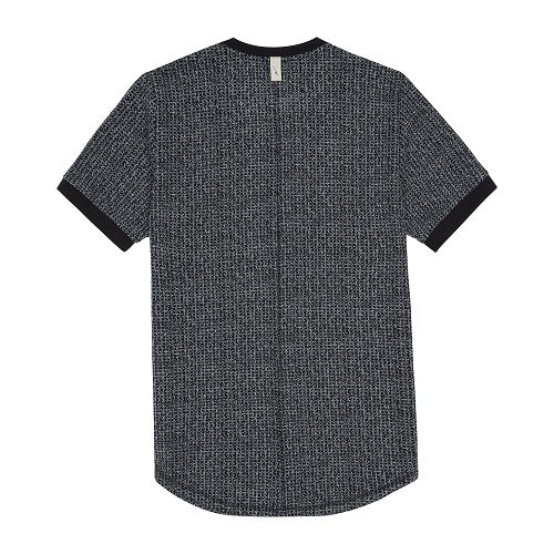 Load image into Gallery viewer, Black Balfour Check Slim Fit T-shirt - P r é v u . S t u d i o .