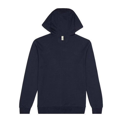 Dark Navy Signature Logo Embroidered Hoodie - P r é v u . S t u d i o .