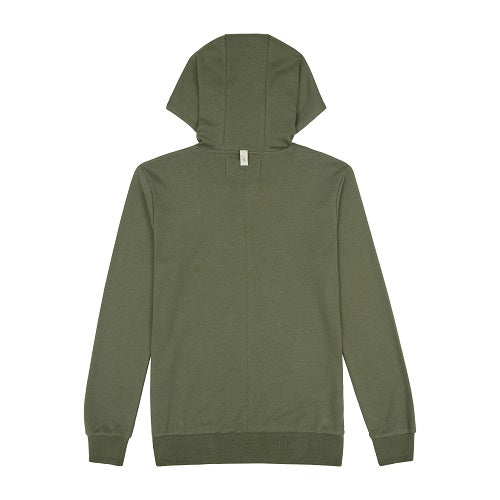 Load image into Gallery viewer, Khaki Signature Logo Embroidered Hoodie - P r é v u . S t u d i o .