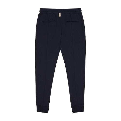 Load image into Gallery viewer, Dark Navy Signature Logo Slim Fit Jogger - P r é v u . S t u d i o .