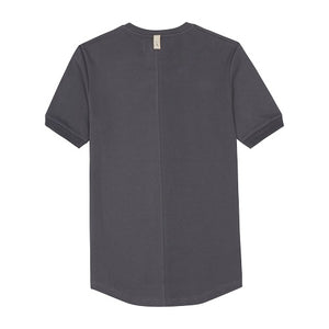 Load image into Gallery viewer, Grey Signature Logo Embroidered Slim Fit T-Shirt - P r é v u . S t u d i o .