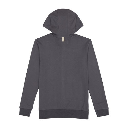 Grey Signature Logo Embroidered Hoodie - P r é v u . S t u d i o .