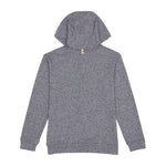 Blue Alnwick Embroidered Logo Slim Fit Hoodie - P r é v u . S t u d i o .