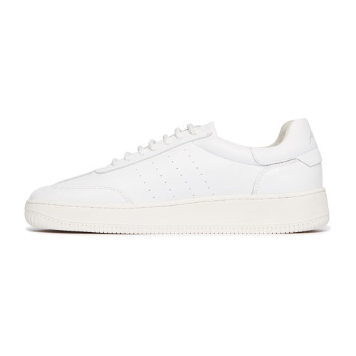 Load image into Gallery viewer, White Annecy Leather Trainers - P r é v u . S t u d i o .