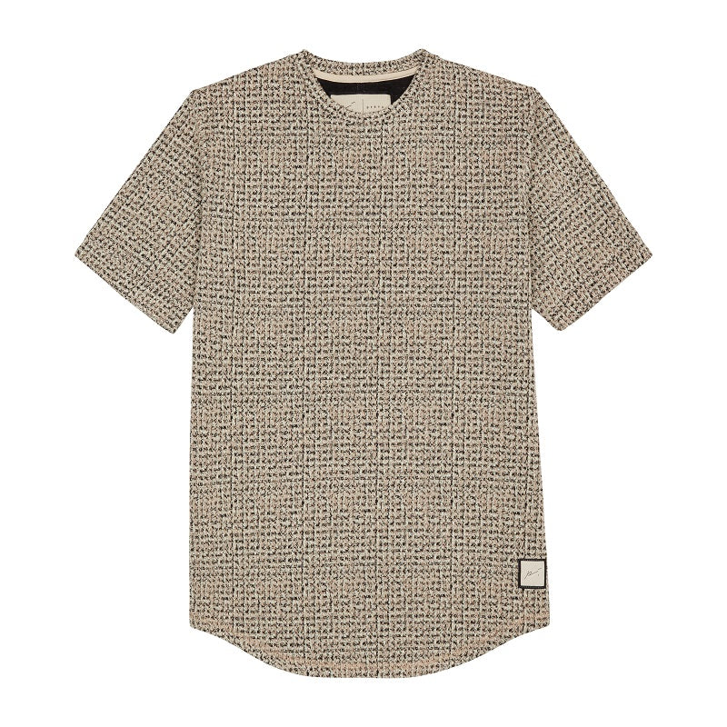 Load image into Gallery viewer, Gold Aubaine Check Slim Fit T-shirt - P r é v u . S t u d i o .