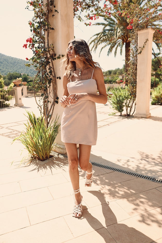 Women's Pink Otra Mini Dress - P r é v u . S t u d i o .