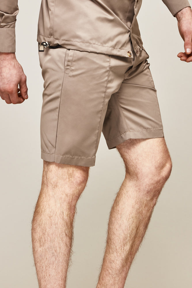 Load image into Gallery viewer, Gold Lorne Silk Shorts - P r é v u . S t u d i o .
