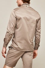 Gold Lorne Silk Slim Fit Shirt - P r é v u . S t u d i o .
