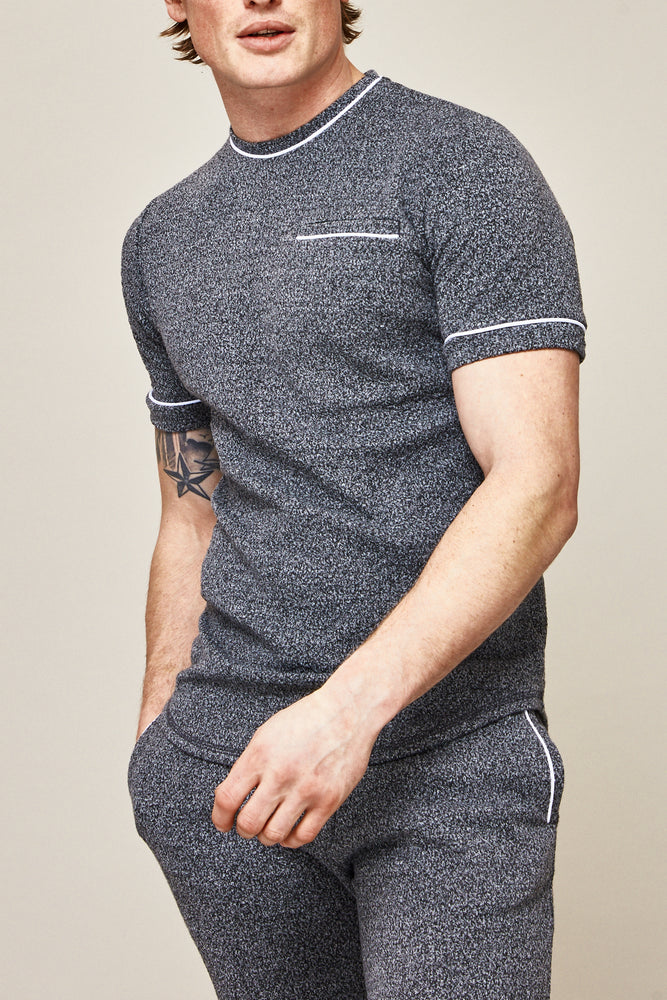 Grey Astell Flecked Slim Fit T-shirt - P r é v u . S t u d i o .