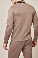 Light Brown Belshaw V-neck Slim Fit Top - P r é v u . S t u d i o .