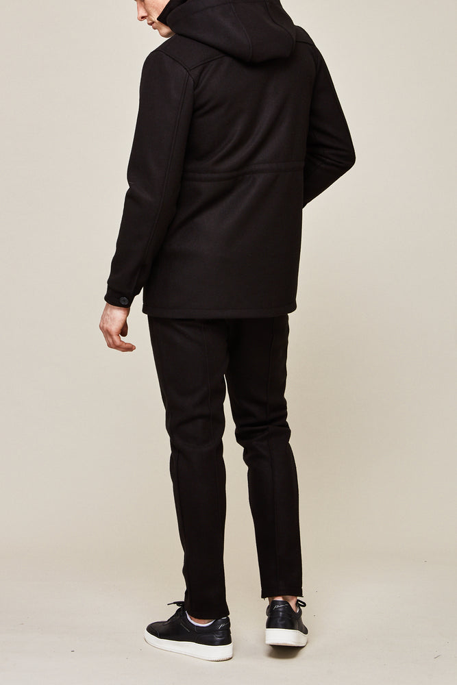 Black Nord Slim Fit Wool Trousers - P r é v u . S t u d i o .