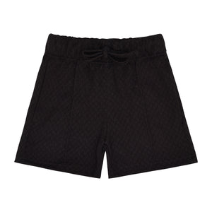 Load image into Gallery viewer, Kids Black Cruise Shorts - P r é v u . S t u d i o .